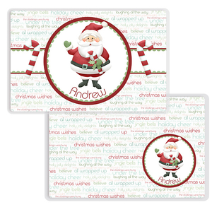 Jolly Saint Nick Personalized Kids Placemat