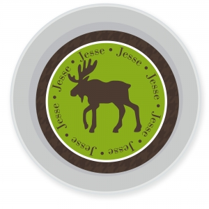 Moose Personalized Melamine Bowl