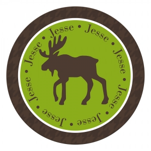Moose Personalized Melamine Plate