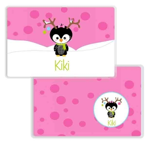 Penguin Girl Personalized Kids Placemat
