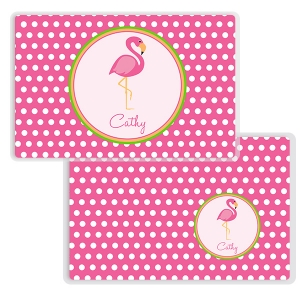 Pink Flamingo Personalized Kids Placemat