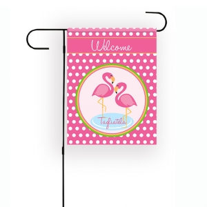 Flamingos Personalized Garden Flag
