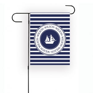 Nautical Personalized Garden Flag