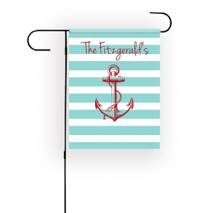 Anchor Personalized Garden Flag