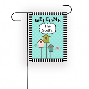 Bird Houses Personalized Garden Flag