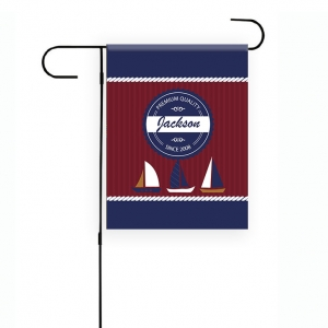 Nautical Boats Personalized Garden Flag