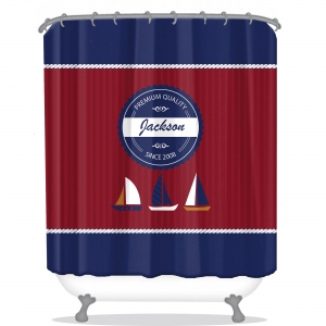 Boats Nautical Personalized Shower Curtain