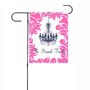 Chandelier Personalized Garden Flag
