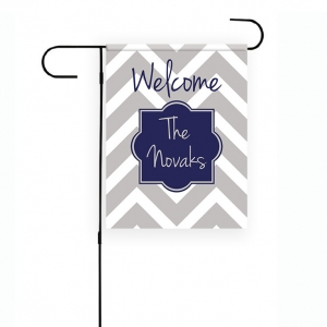 Chevron Personalized Garden Flag
