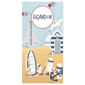 Coastal Personalized Beach Towel