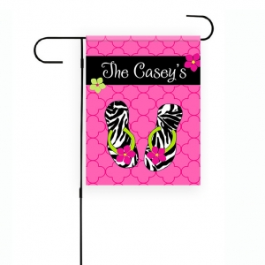 Flip Flops Personalized Garden Flag