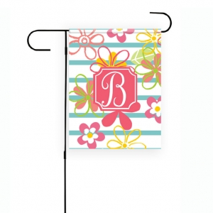 Fresh Flowers Personalized Garden Flag