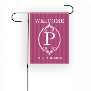 Modern Flourish Personalized Garden Flag
