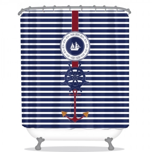 Nautical Personalized Shower Curtain