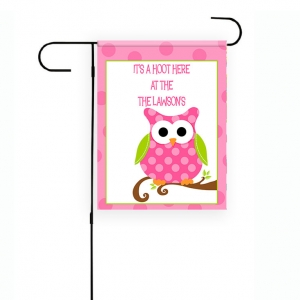 Owl Personalized Garden Flag