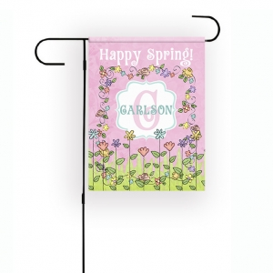 Spring Personalized Garden Flag