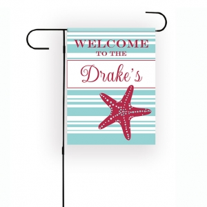 Starfish Personalized Garden Flag