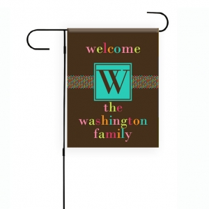 Sugary Sweet Personalized Garden Flag