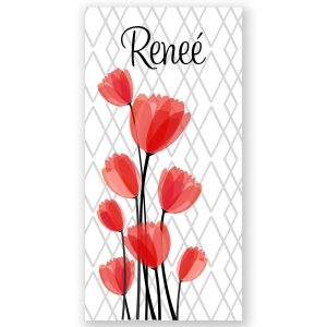 Tulips Personalized Beach Towel