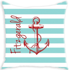 Anchor Personalized Throw Pillow