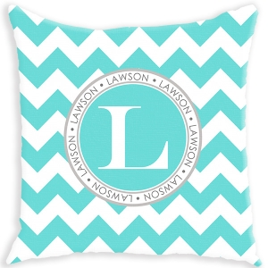 Chevron Pattern Personalized Couch Pillow