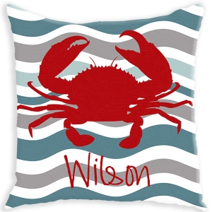 Crab Personalized Pillow