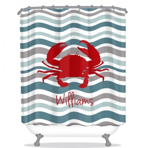 Waves Personalized Shower Curtain