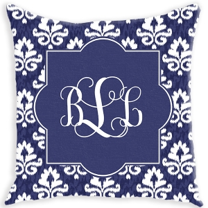 Damask Ikat Personalized Couch Pillow