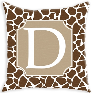 Giraffe Pattern Personalized Couch Pillow