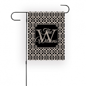 Trellis Personalized Garden Flag