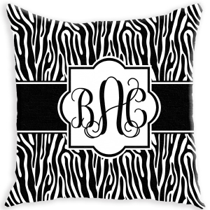 Zebra Personalized Couch Pillow