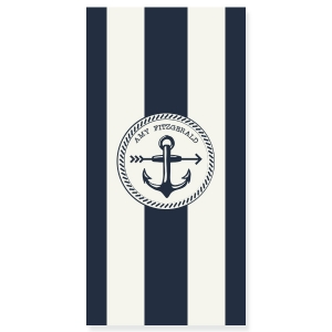 Brielle Stripe Personalized Beach Towel