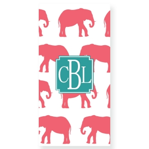 Elephants Personalized Beach Towel