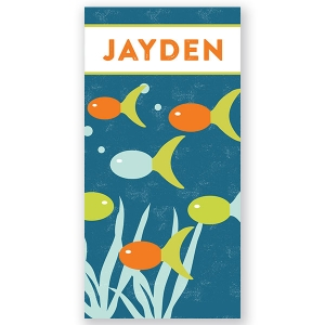 Fish Personalized Beach Towel