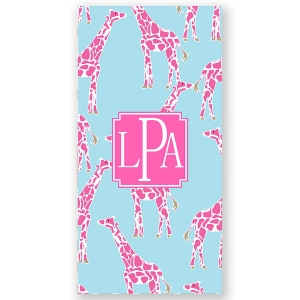 Giraffes Personalized Beach Towel