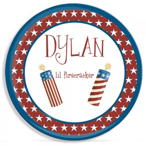 Firecracker Personalized 4th of July Plate