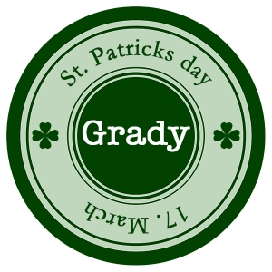 Classic St. Patrick's Personalized Plate