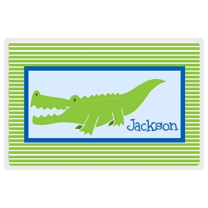 Alligator Dude Personalized Boys Placemat