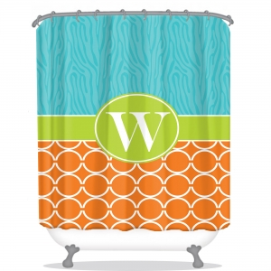 Zebra & Chain Pattern Personalized Shower Curtain
