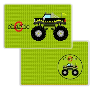 Monster Truck Personalized Melamine Bowl