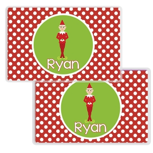 Elf Personalized Christmas Placemat