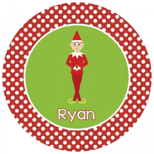 Elf Personalized Christmas Plate