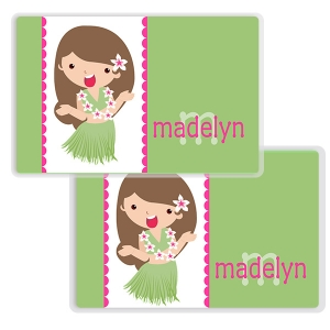 Hula Gal Girls Personalized Placemat