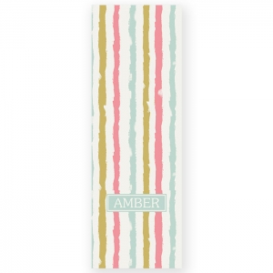 Subtle Painted Stripes Personalized Yoga Mat