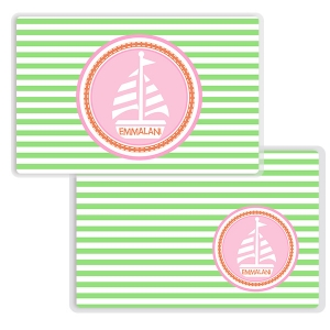Sailor Gal Girls Personalized Place Mat