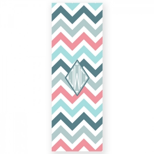 Subtle Chevron Personalized Yoga Mat
