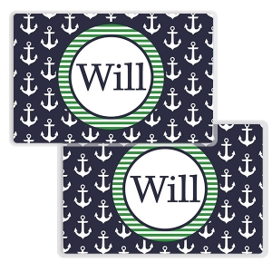 Anchors Navy Personalized Nautical Placemat