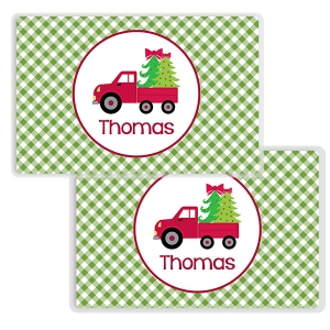 Christmas Delivery Personalized Childs Christmas Placemat