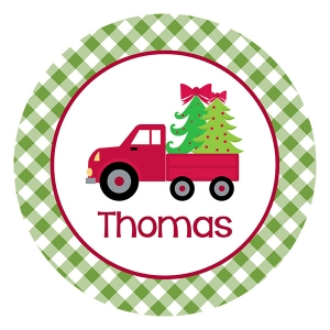 Christmas Delivery Personalized Kids Christmas Plate