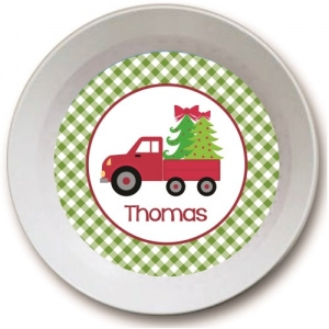 Christmas Delivery Personalized Kids Christmas Bowl